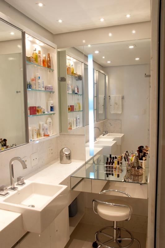 Ideias de decoração Penteadeiras  Vaidosa e Feminina -> Pia Para Banheiro Moderno