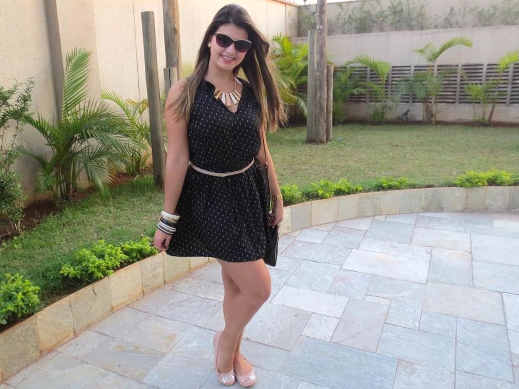 Vestido preto e nude (2)