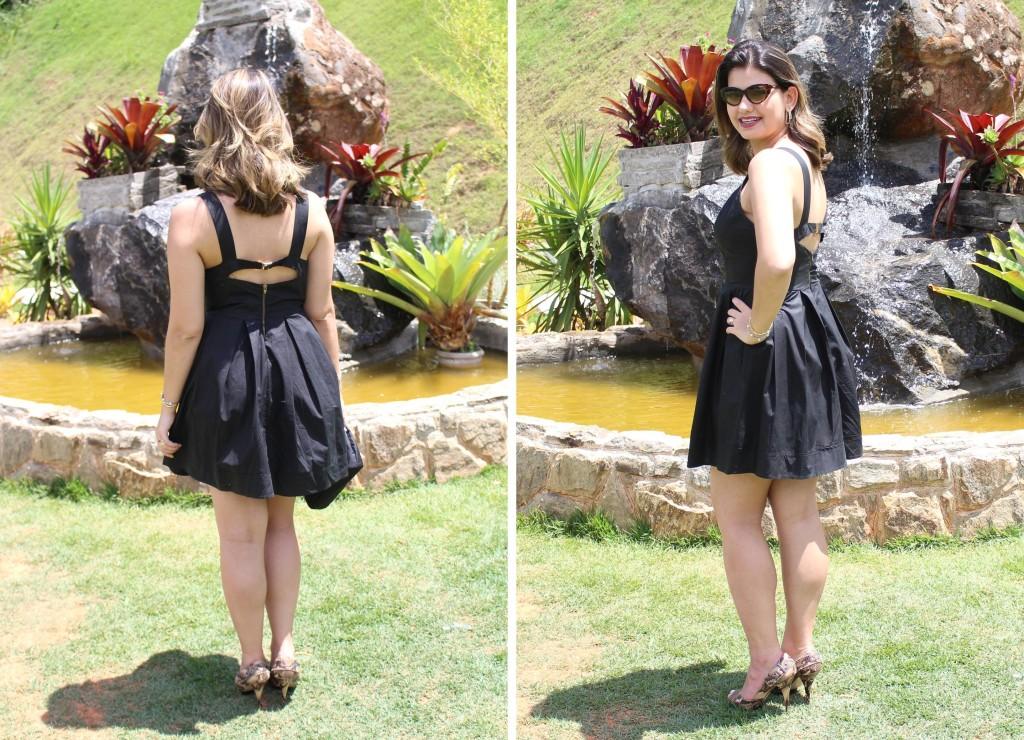 Look Vestido preto curto 2