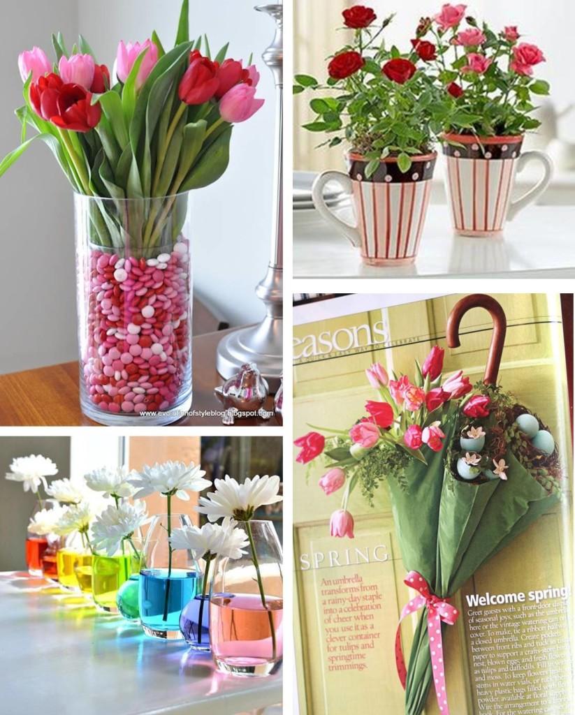 Decoração com flores fáceis