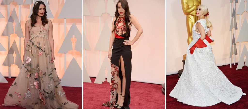 Oscar 2015 Bizarros Keira Knightley Lorelei Linklater Lady Gaga