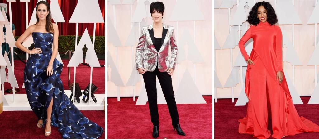 Oscar 2015 Bizarros Louise Roe Diane Warren Solange Kinowles