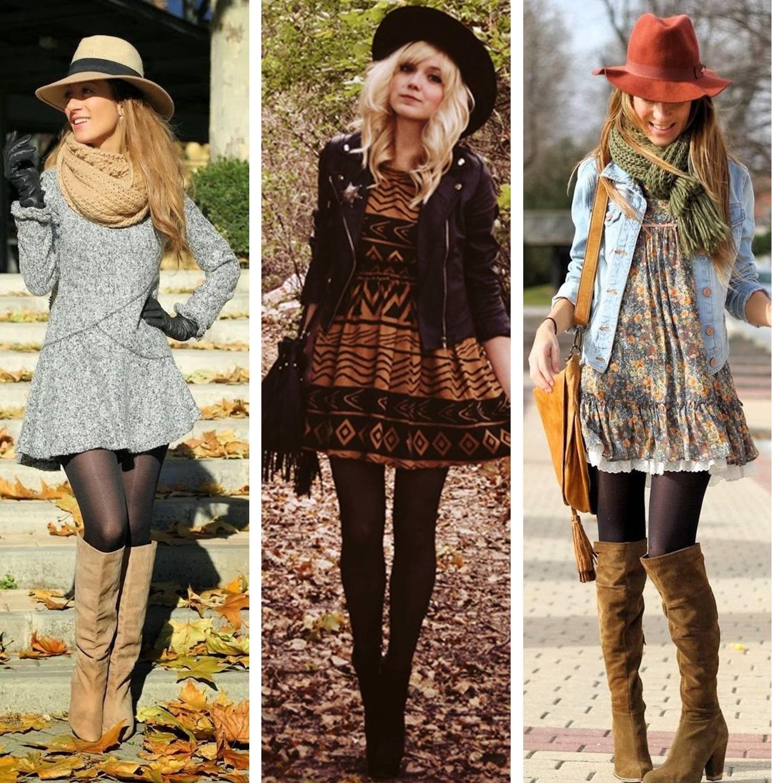 Looks com vestido no outono