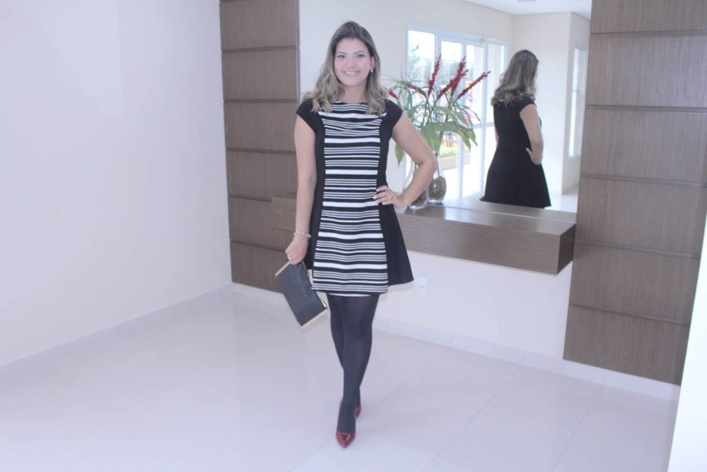 Look do dia - Vestido preto e branco 1