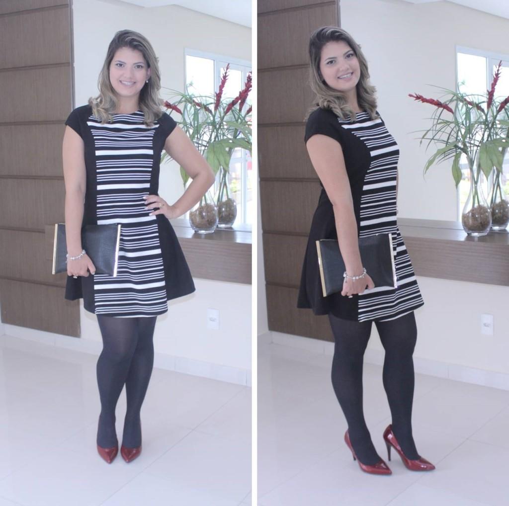 Look do dia - Vestido preto e branco 2