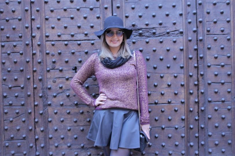 Look saia de couro preta (3)