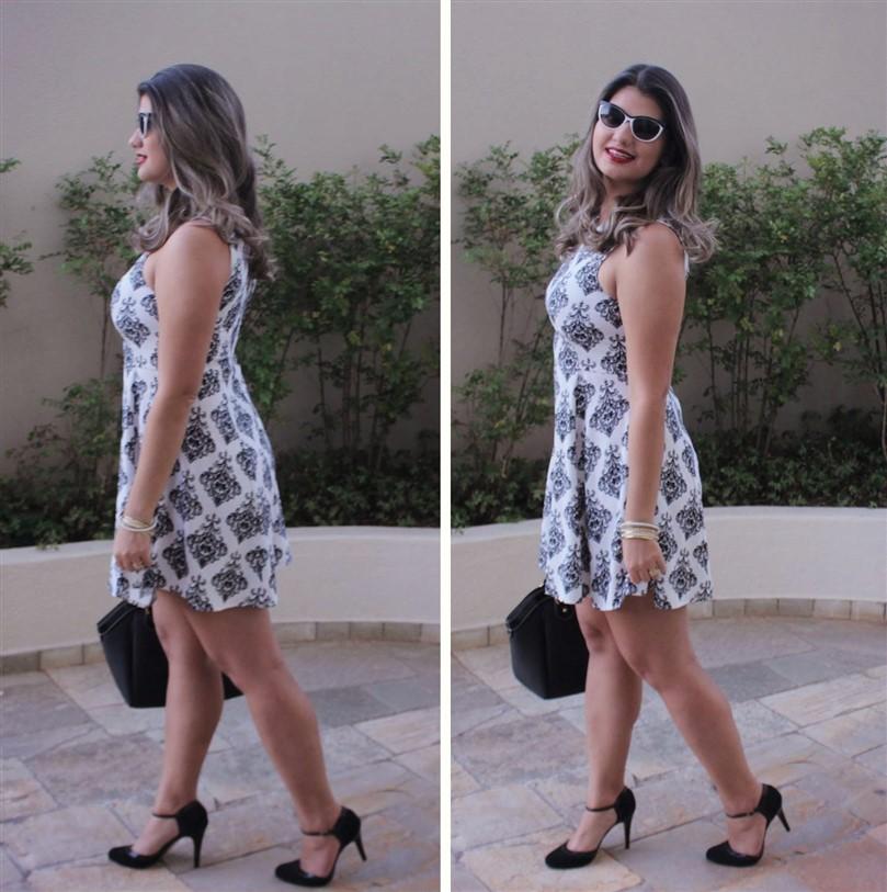 Look vestido preto e branco arabescos (3)