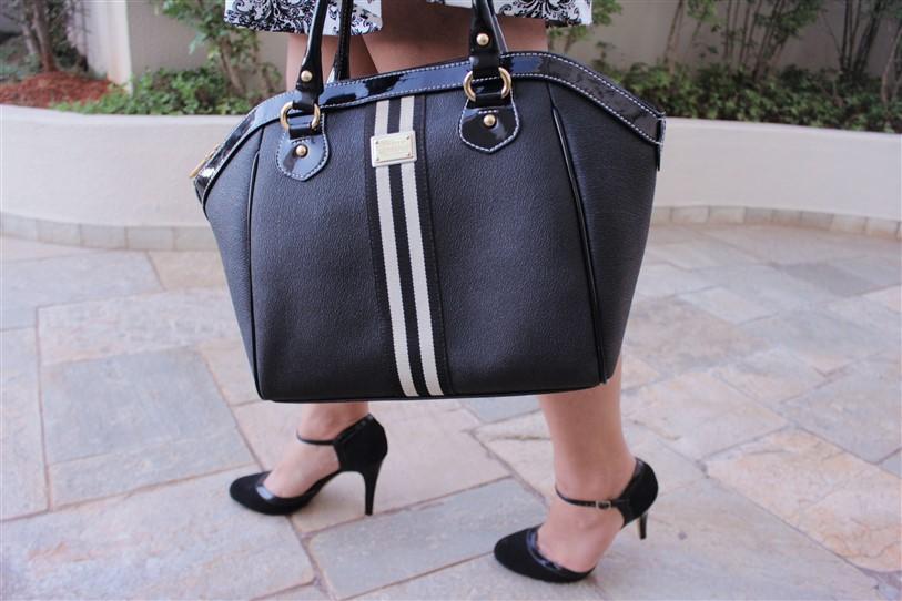 Look vestido preto e branco arabescos (7)