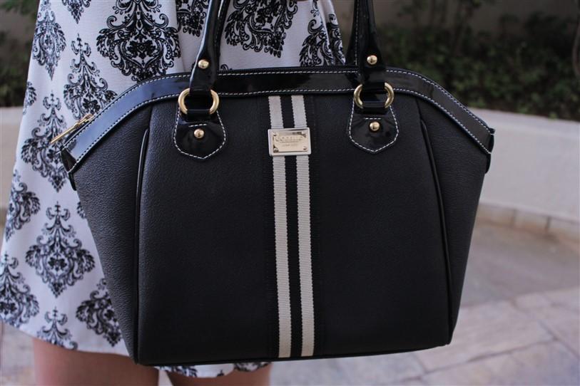 Look vestido preto e branco arabescos (8)