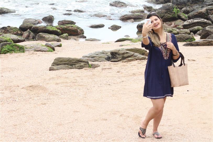 Look Saída de praia azul Shein (9)