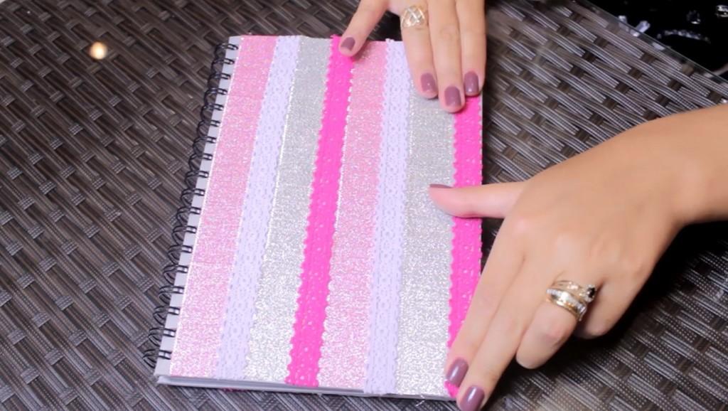 Volta as aulas Customização de cadernos 2