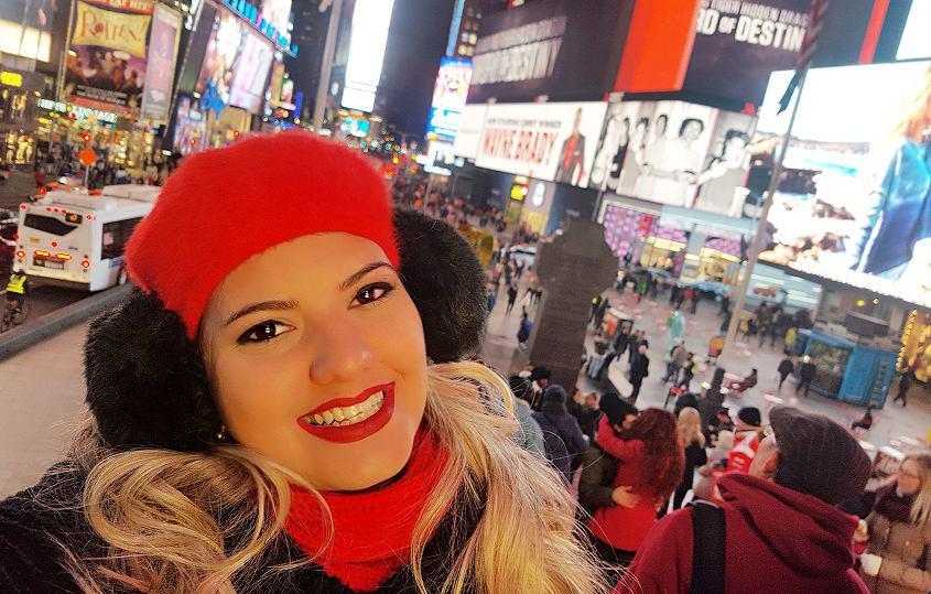 Times Square a noite Vlog Nova York