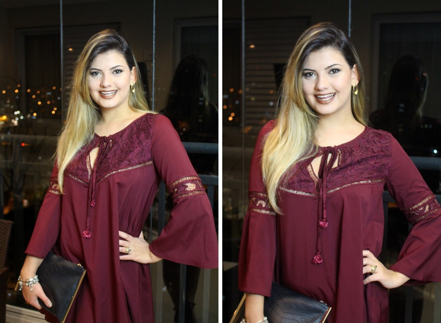 Vestido Vinho Shein 3