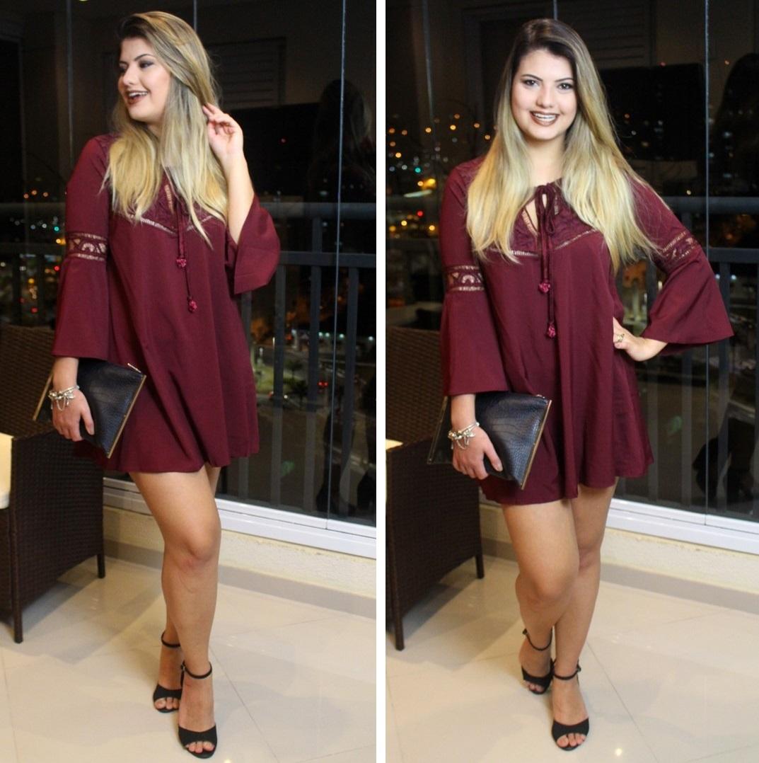 Vestido Vinho Shein 4