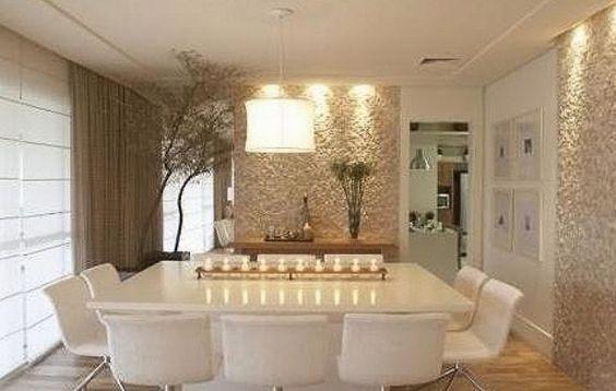 Inspira o sala de jantar clean vaidosa e feminina for Como decorar un aparador