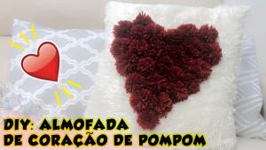 DIY Almofada de pompom de coração