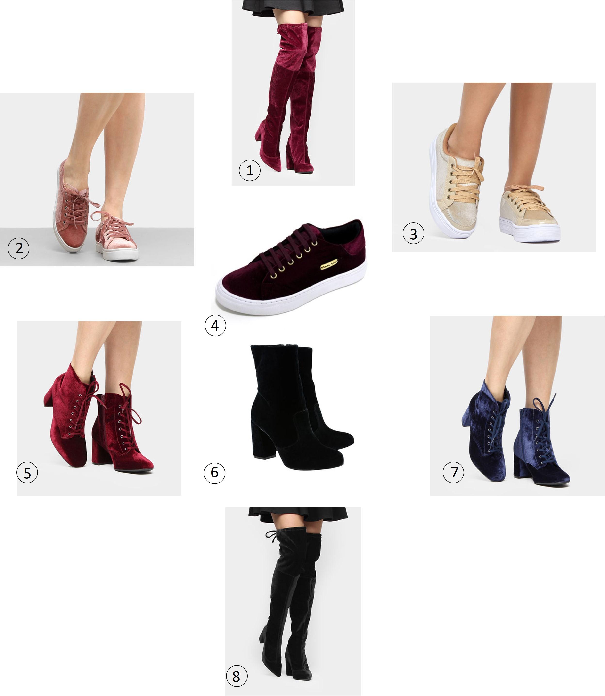 Onde encontrar calçados de veludo