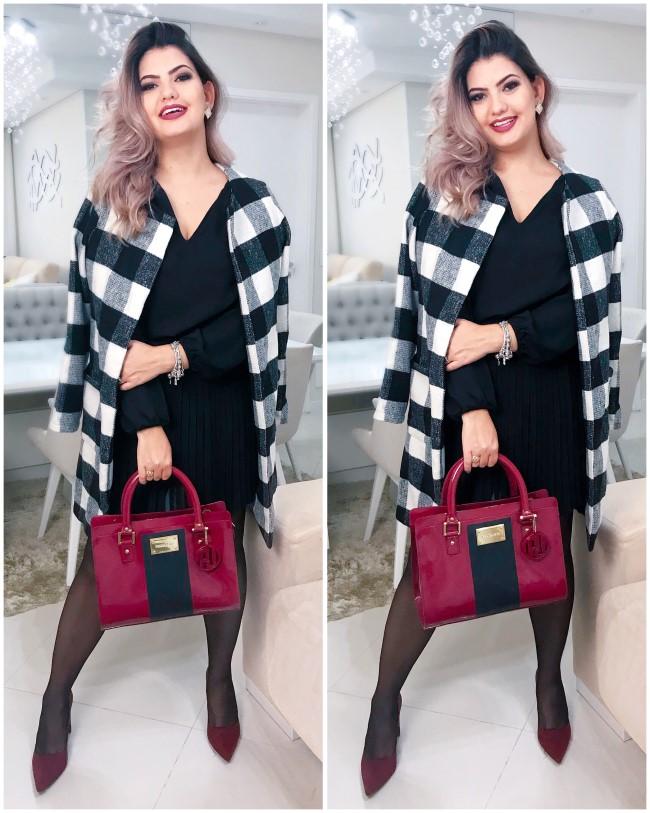 Look casaco xadrez (2)