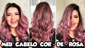 Meu cabelo cor de rosa